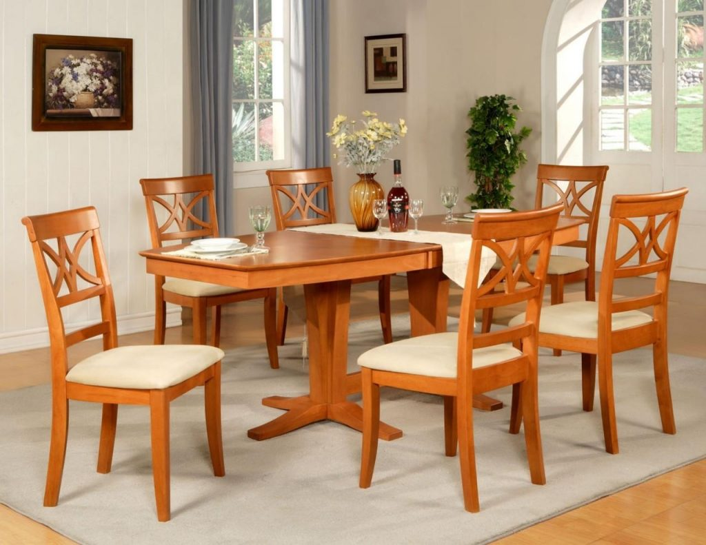 Lovely Cherry Wood Dining Room Table