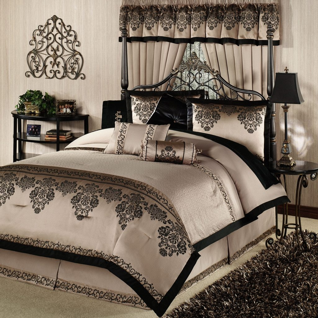 Luxury King Size Comforter Sets Comfortersroom Modern Black Duvet