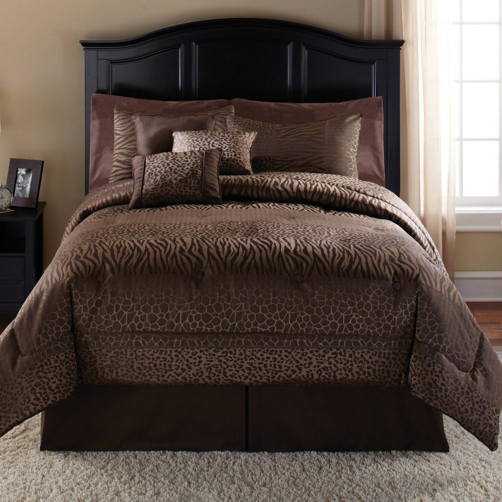 Mainstays Safari 7 Piece Bedding Comforter Set Walmart