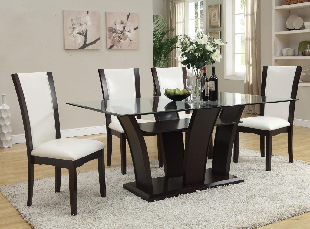 Malik Glass Top Dining Table Rectangular In Espresso World Home