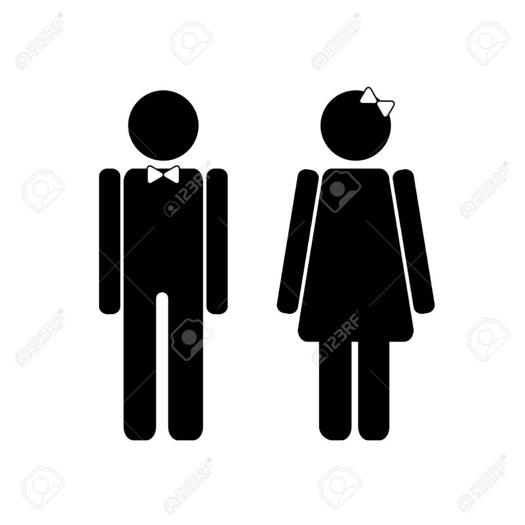 Man And Woman Symbols Vector Signs For Stecifying Gender Can