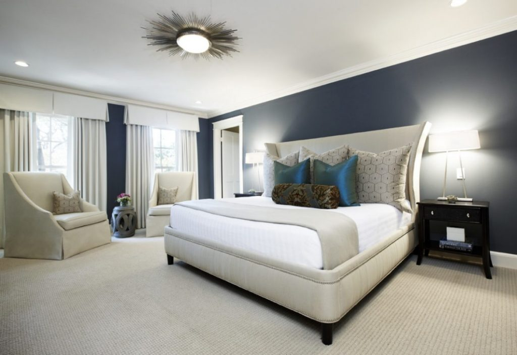 Marvelous And White Mattress Under Cool Bedroom Overhead Lighting