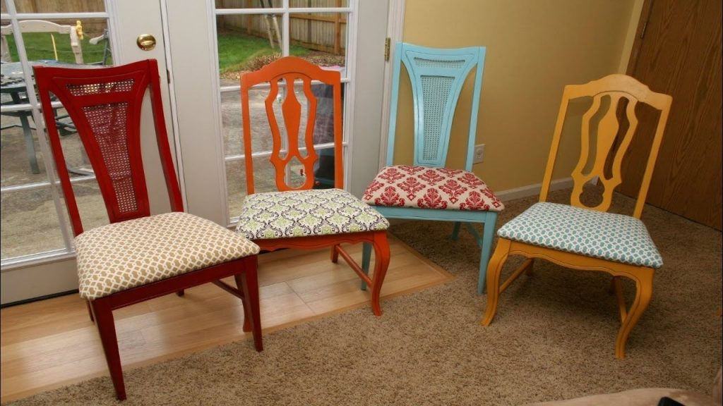 Marvelous Kitchen Chair Upholstery Fabric How To Reupholster Pics Of