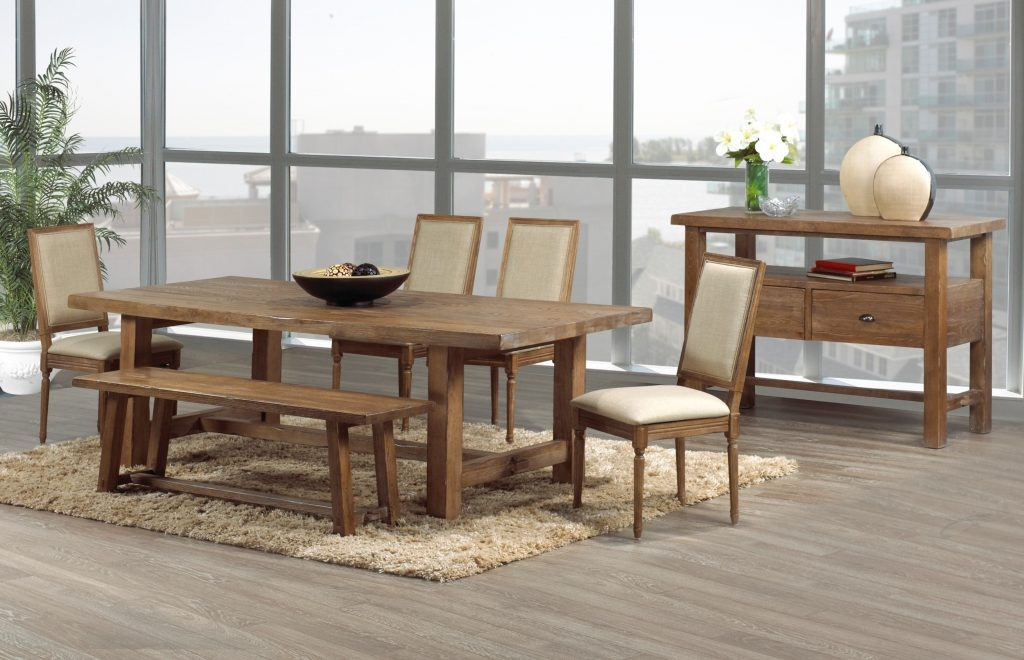 Marvelous Rustic Large Dining Table 7 Room Tables Set Round