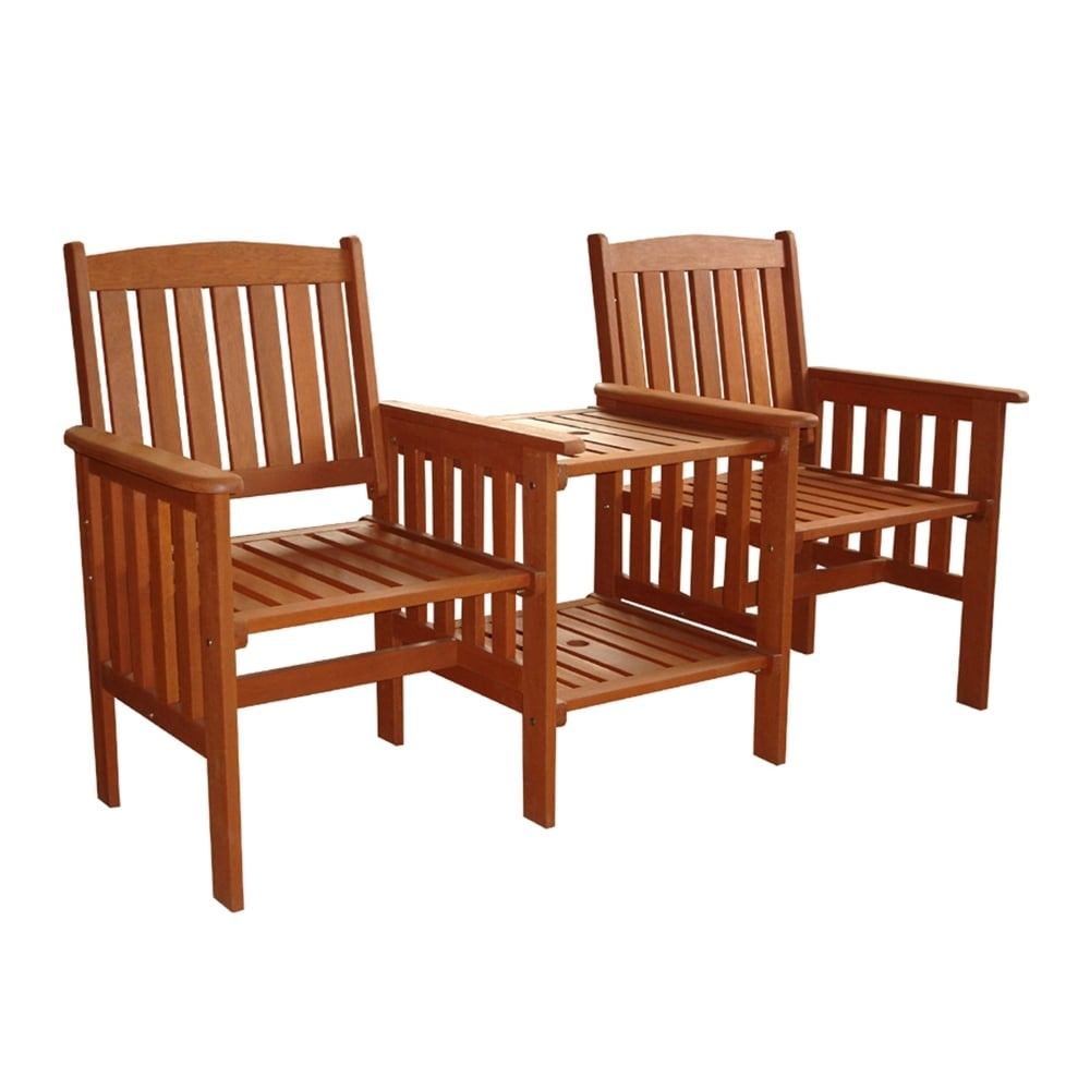 Memphis Love Seat Twin Companion Loveseat Garden Chairs Table
