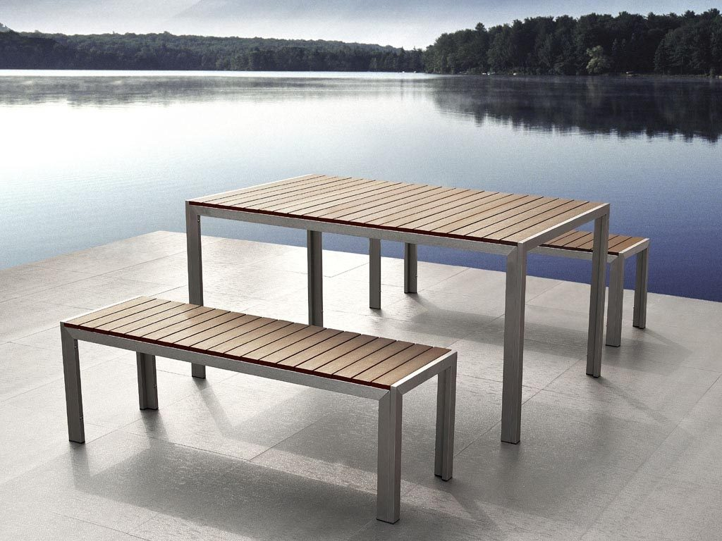 Metal Outdoor Furniture Plain Metal Wood And Metal Garden Furniture
