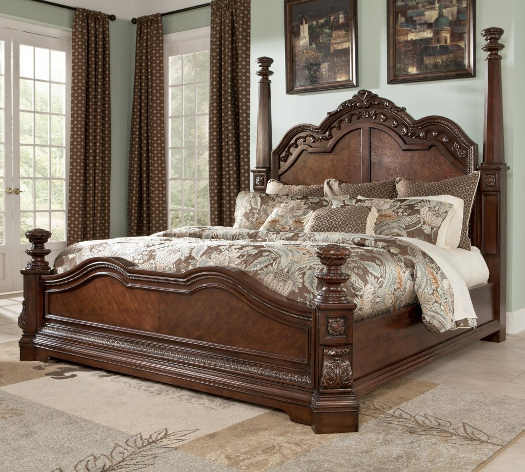 Millennium Ledelle Traditional King Poster Bed With Tall Headboard