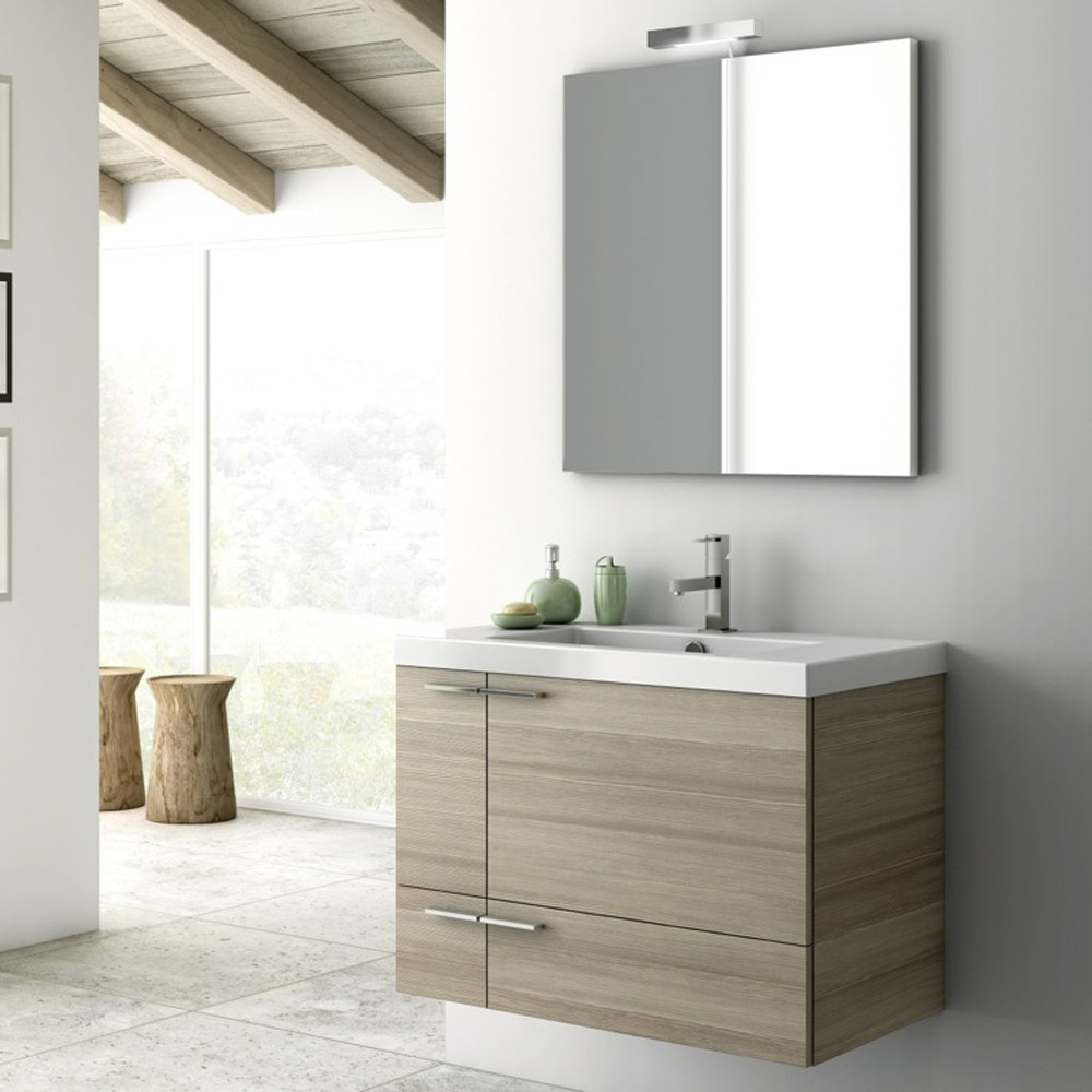 Modern 31 Inch Bathroom Vanity Set With Ceramic Sink Larch Canapa