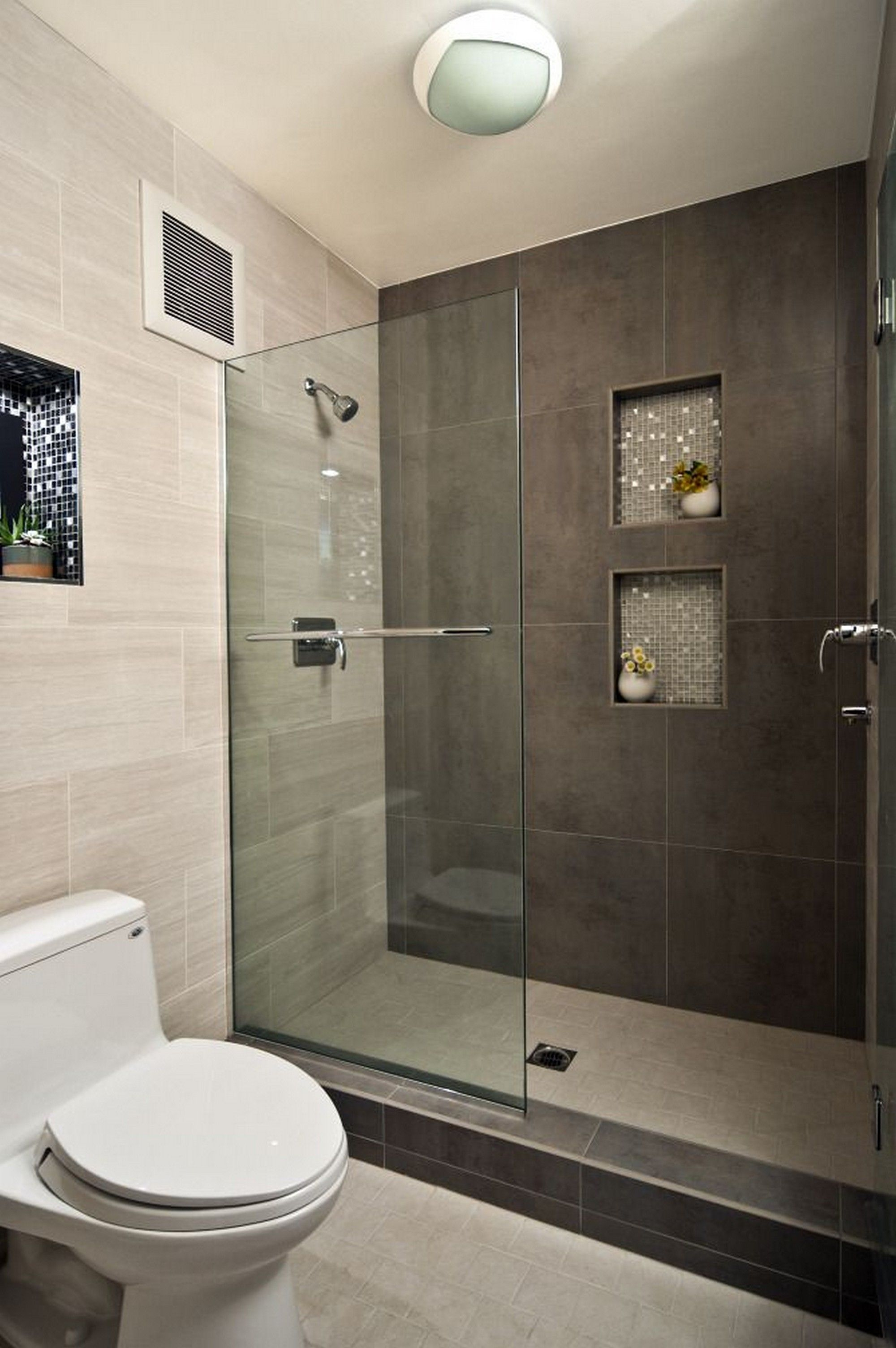 Modern Bathroom Design Ideas With Walk In Shower Pinterest Small Layjao