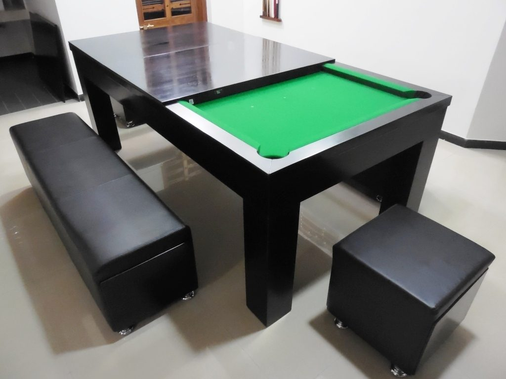 Modern Black And Green Wooden Dining Room Pool Table Sets Jangbiro