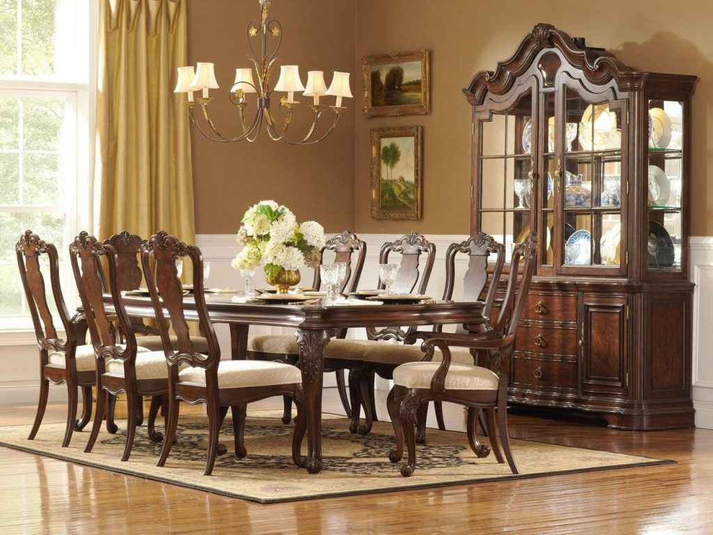 Modern Elegant Dining Room Traditional Dining Table Set Black And