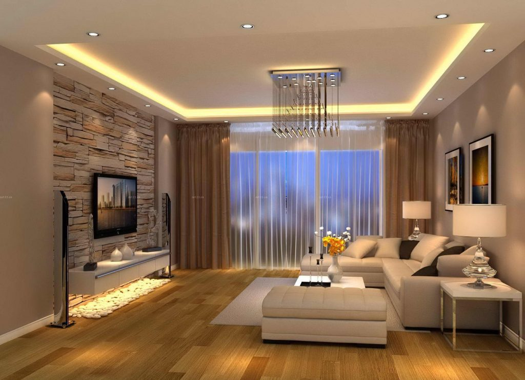 Modern Living Room Brown Design Tv Room