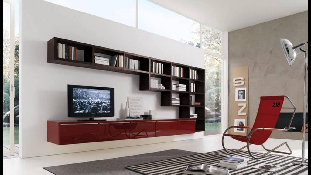 Modern Living Room Wall Units With Storage Inspiration Youtube