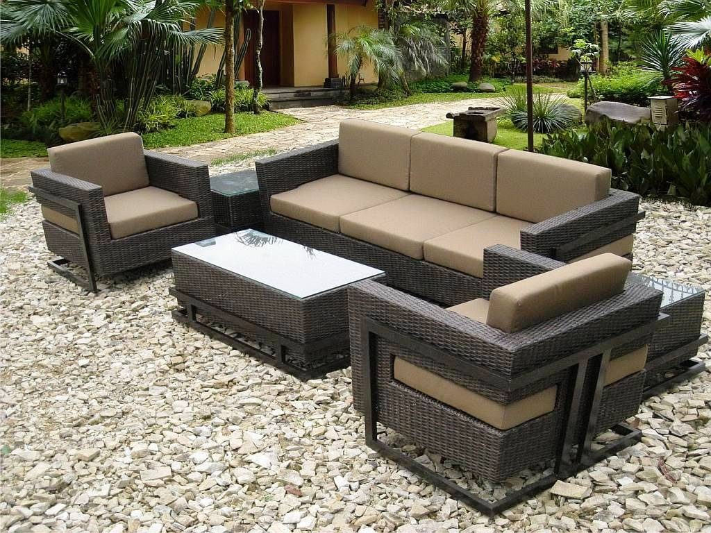 Modern Resin Wicker Patio Furniture On Sears With Cappuccino Outdoor