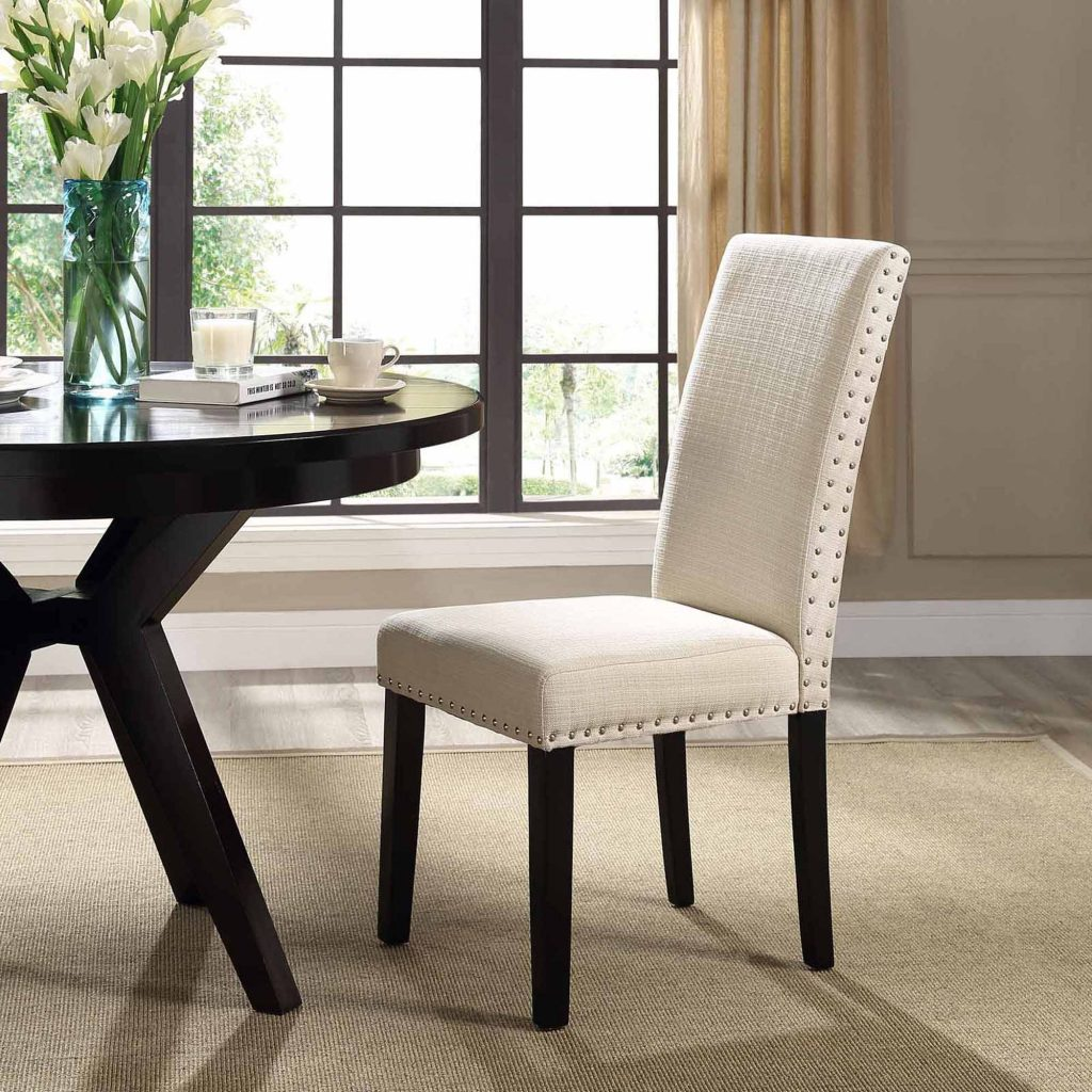 Modway Parcel Upholstered Dining Side Chair Multiple Colors