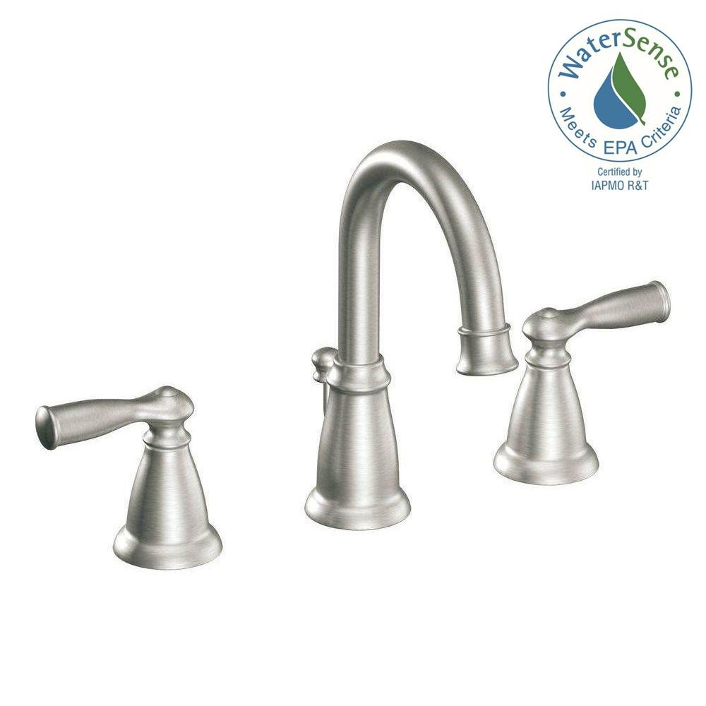 Moen Banbury 8 In Widespread 2 Handle High Arc Bathroom Faucet In