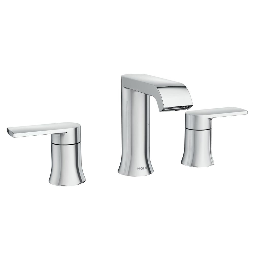 Moen Genta 8 In Widespread 2 Handle Bathroom Faucet In Chrome 84763