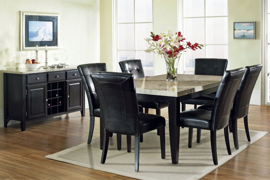 Monarch Marble Conventional Dining Table At Gardner White