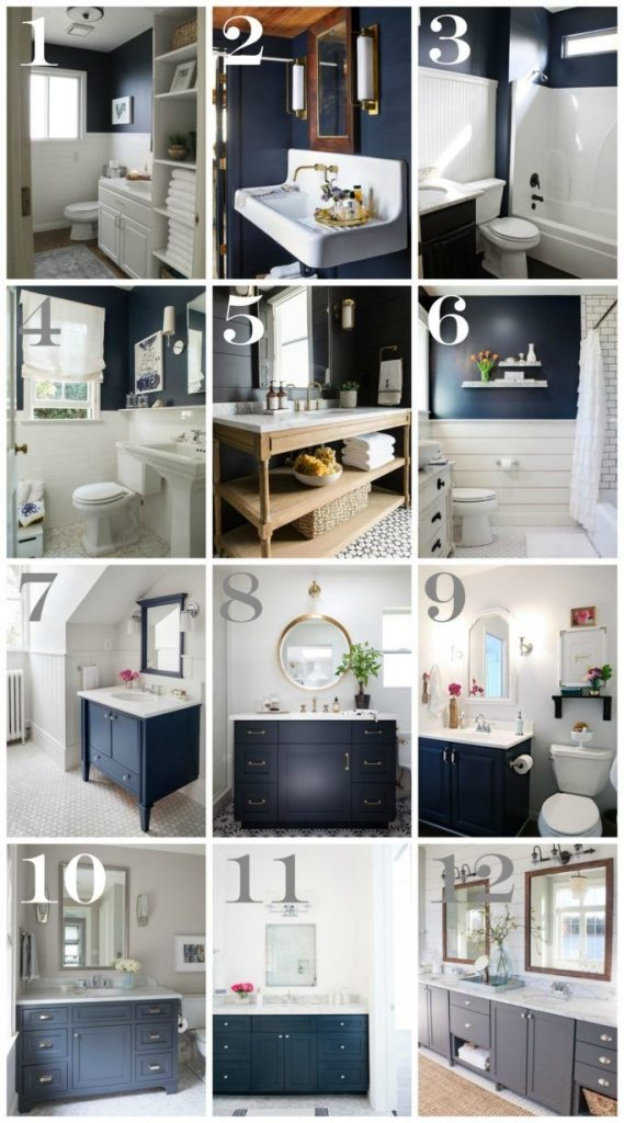 Navy Bathroom Decorating Ideas Pinterest Navy Bathroom Blue