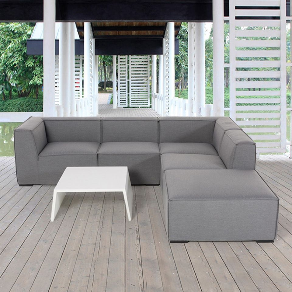 New Design Garden Furniture Gray Color Waterproofing Upholstery