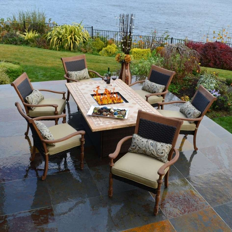 New Patio Furniture Fire Pit Table Set