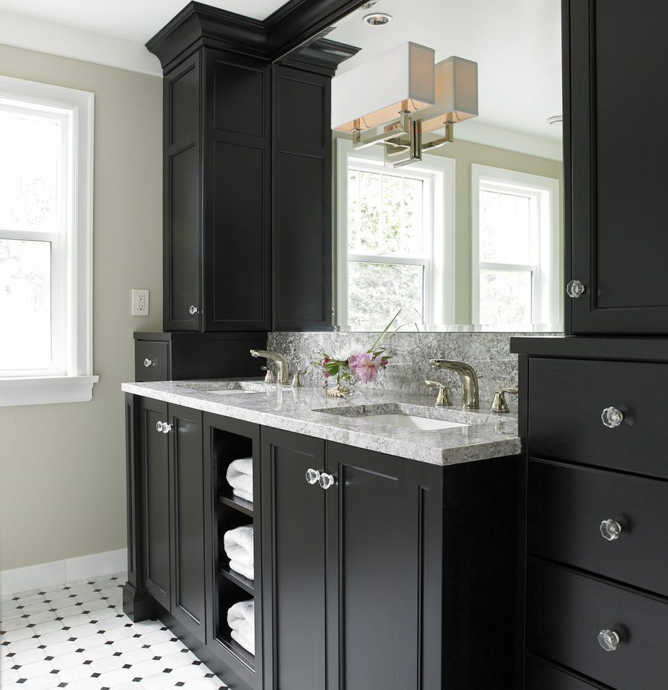 New York Bathroom Vanity Cabinet Transitional With Billy Balls