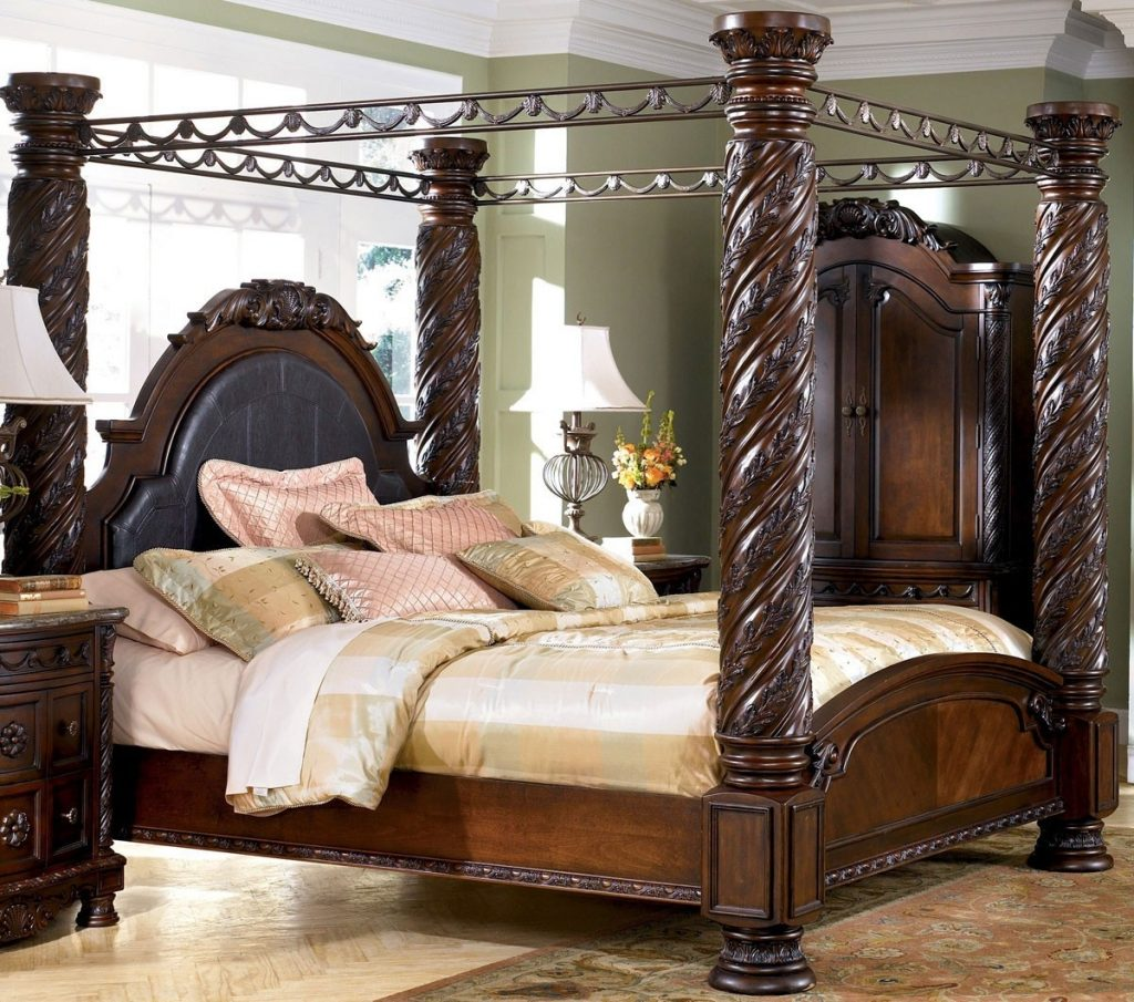 North Shore King Canopy Bed Set Ashley La Furniture Center
