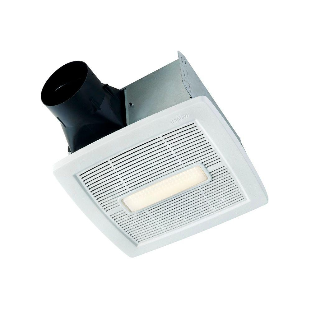 Nutone Invent Series 110 Cfm Ceiling Exhaust Bath Fan With Light