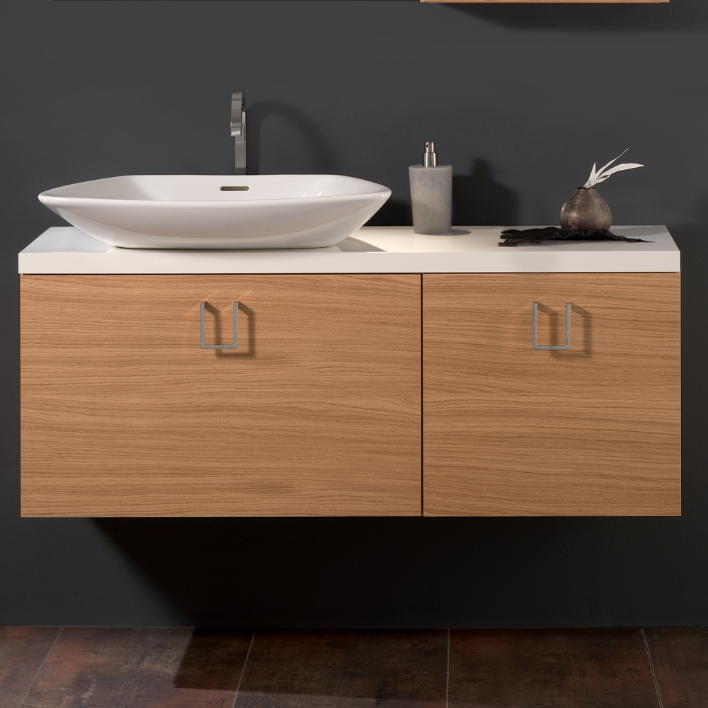 Oak Veneer Luxurious Bathroom Vanity Stand