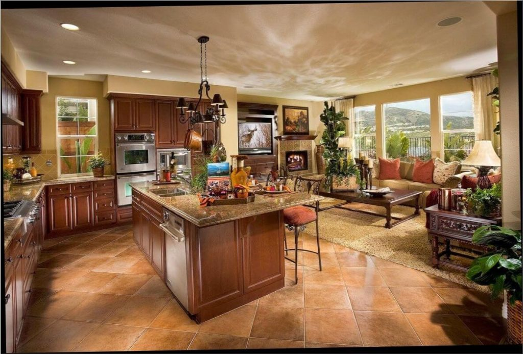 Open Floor Plan Kitchen And Living Room