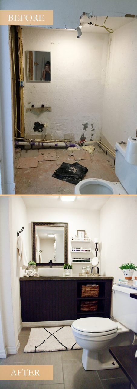 Our Studio Bathroom Remodel A Before And After Fresh Mommy Blog