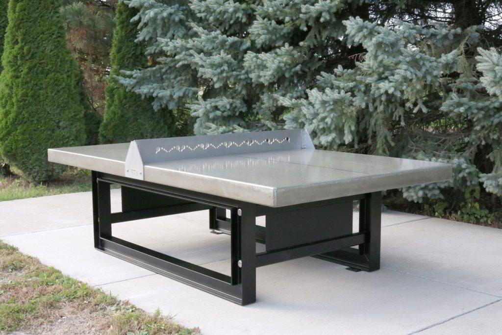 Outdoor Concrete Ping Pongtennis Table With Steel Base Doty Concrete