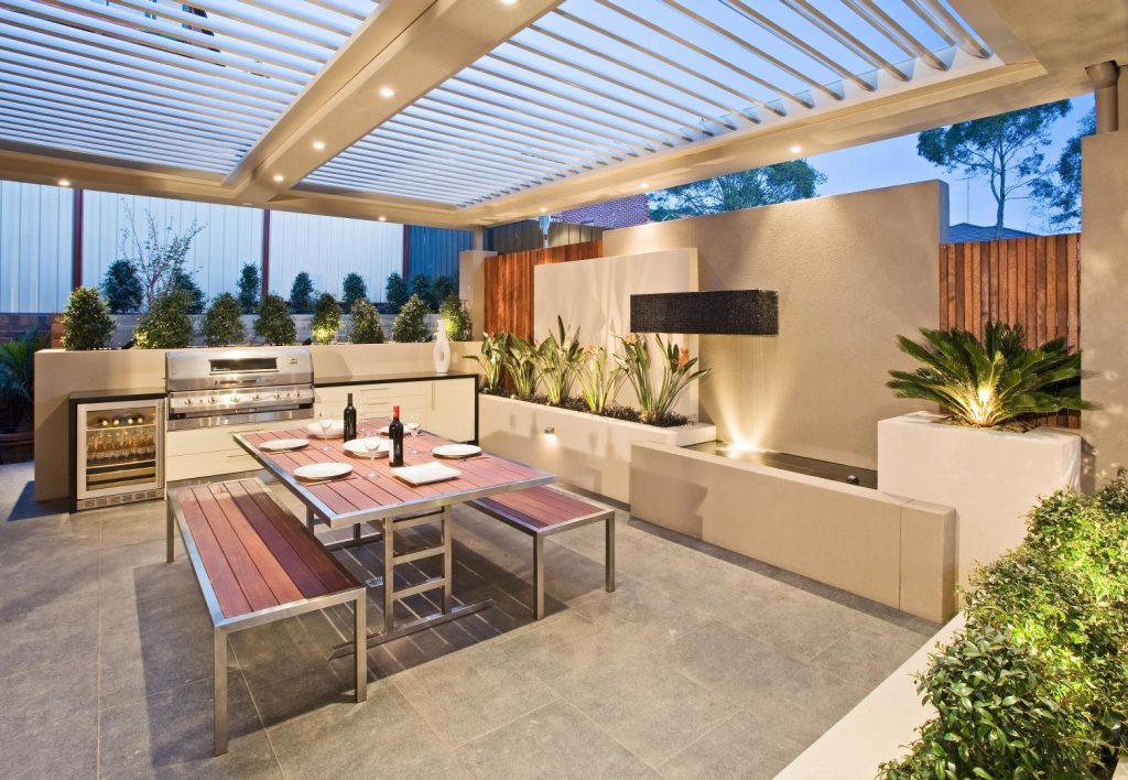 Outdoor Entertaining Area Project Cos Design House Decorators Dma