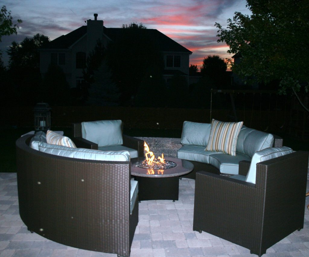 Outdoor Fire Pit Chairs Seating Gas Clearance Home Depot Dining