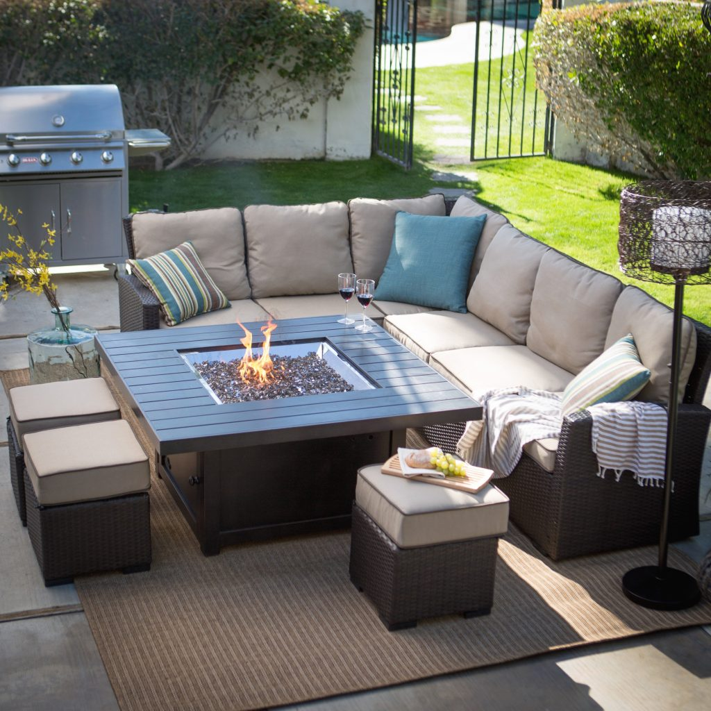 Outdoor Wicker Furniture With Fire Pit Outdoor Designs