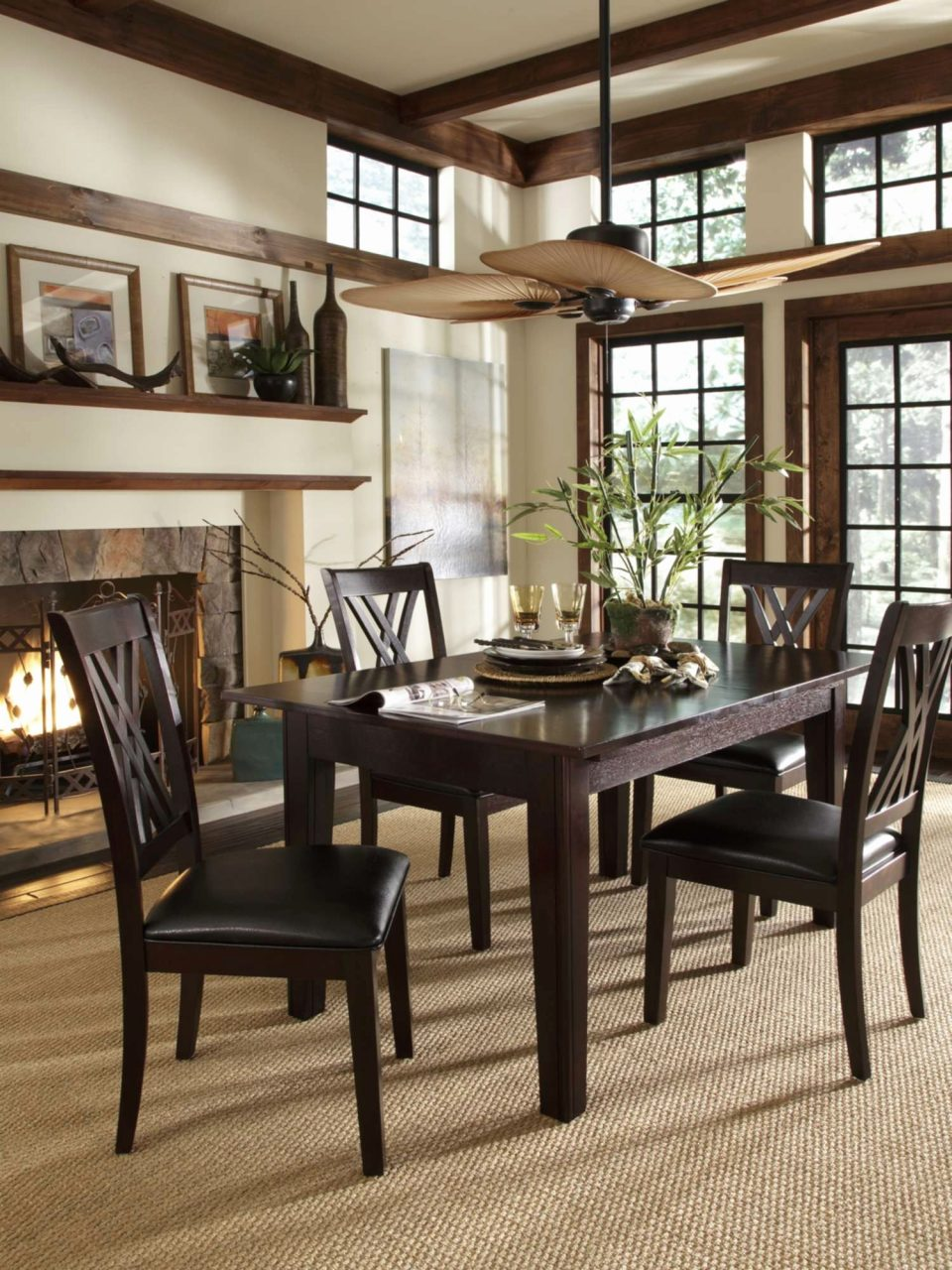 Palm Ceiling Fan Beautiful Dining Room Tropical Ceiling Fan With