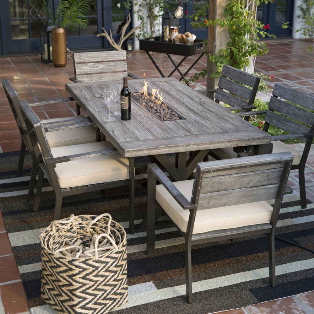 Patio Furniture Fire Pit Table Set Unique Jamie Oliver Dining Wood
