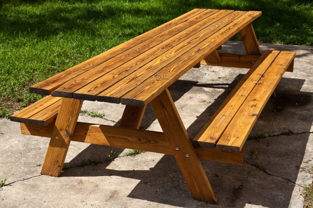 Patio Ideas Table And Benches Prints For A Folding Picnic Bench In