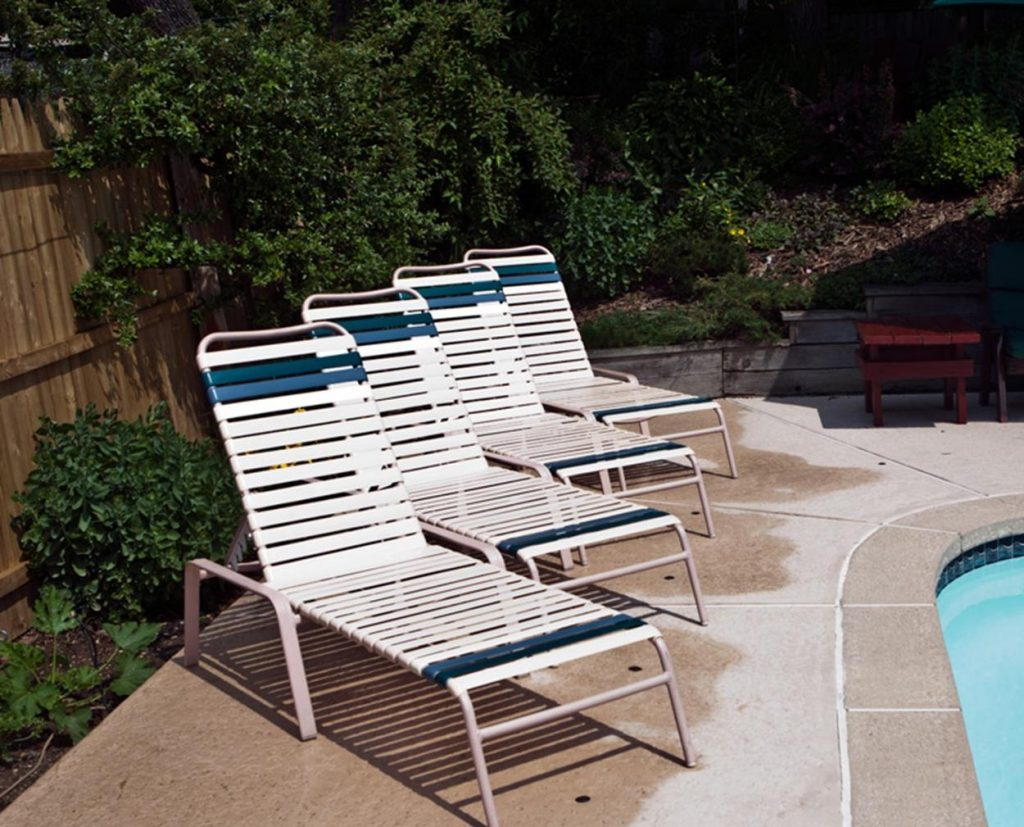 Paul E From New Jersey Finished His Pool Furniture Vinyl Replacements