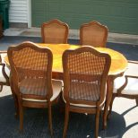 Pecan Dining Room Table And Chairs Thomasville Dining Room Set Used