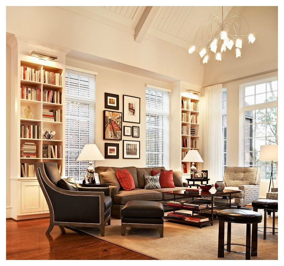 Perfect Living Room With Those Bookshelves Windows The Coffee
