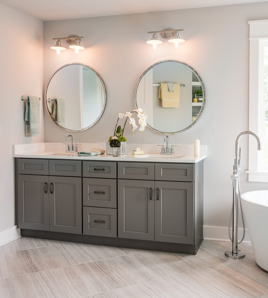 Philadelphia Country Vanity Bathroom Farmhouse With Grey Shaker
