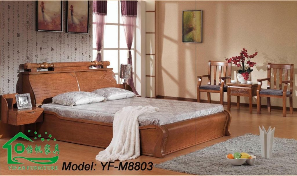 Photos China Classic Solid Wood Bedroom Furniture Yf M8803 Within