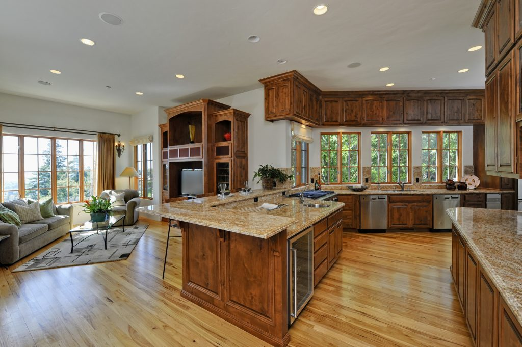Pictures Of Kitchen Living Room Open Floor Plan Modest With Pictures