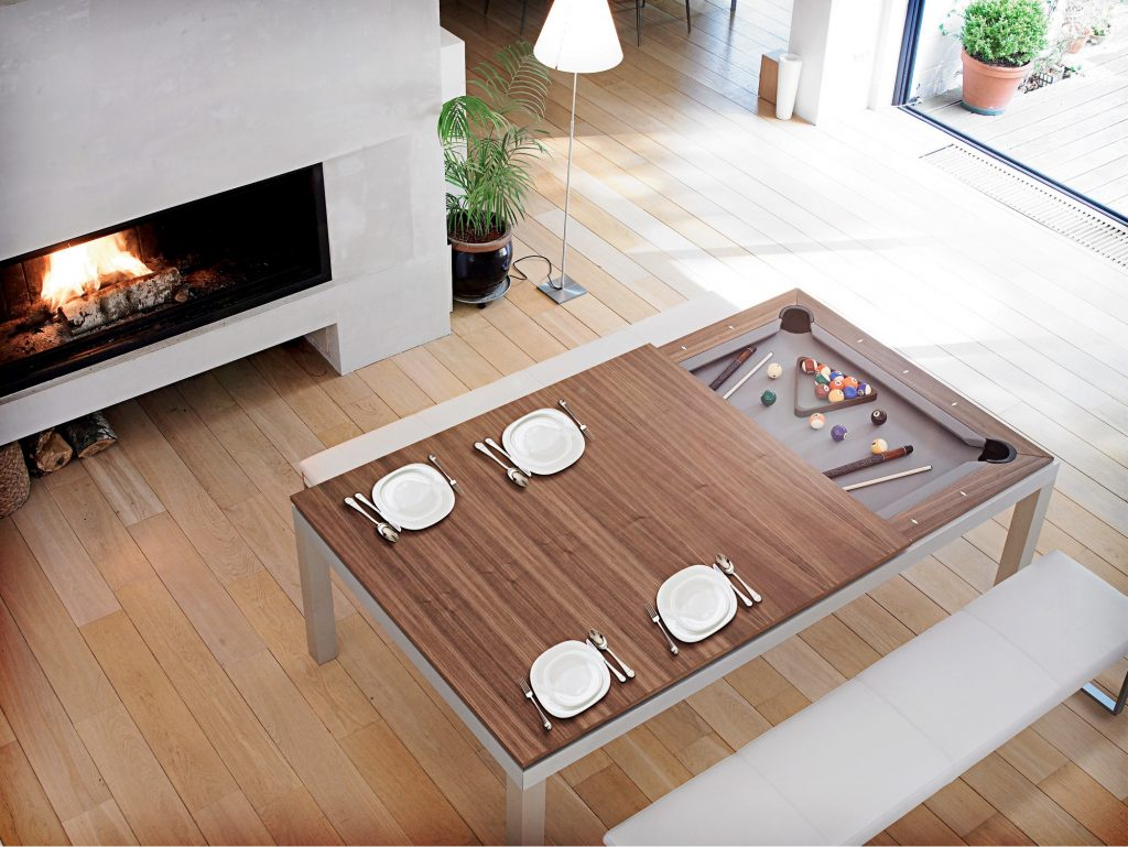 Pool Table Dining Table Combo Wood Cole Papers Design Modern And