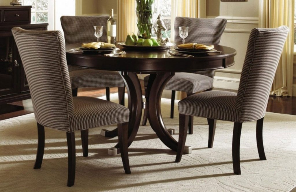 Pretty Espresso Dining Table Set 2 Aspen Room In Asikj 6050s