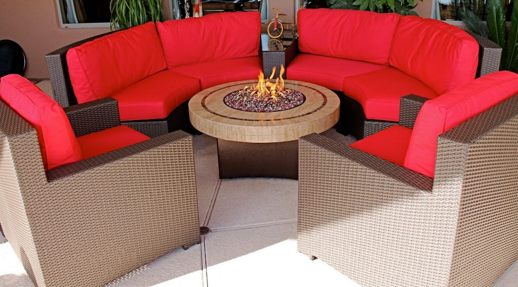 Propane Fire Pit Coffee Table Patio Sets Outdoor Furniture Dining