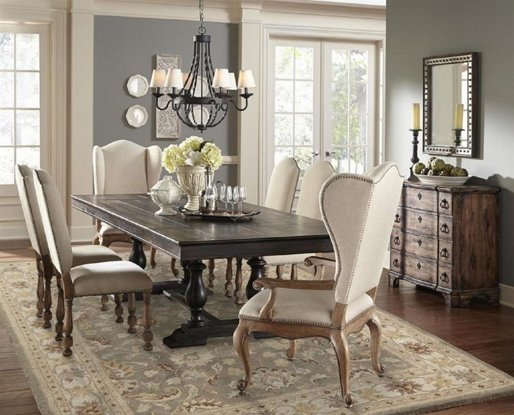 Pulaski Furniture Montserrat Trestle Dining Set Pulaski Furniture