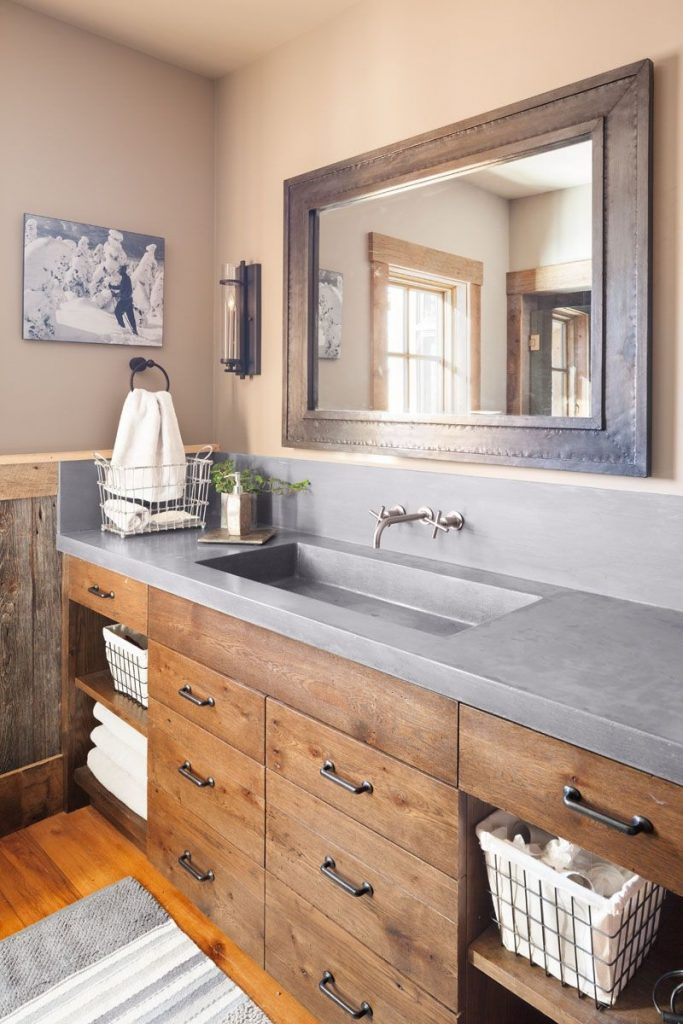 Refined Rustic Bathroom Home Ideas Pinterest Rustic Bathrooms