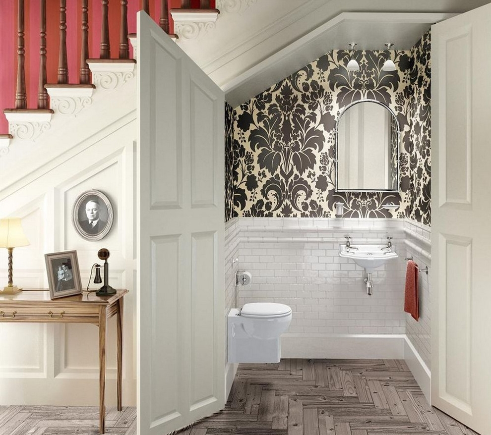 Remarkable Bathroom Wallpaper Ideas Small Home Array Home